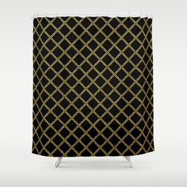 Art Deco: San Francisco Glitter-Gold and Black Shower Curtain
