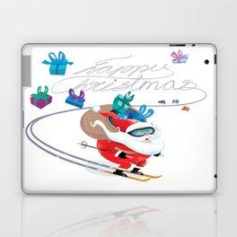 Santa Skiing 1 Laptop & iPad Skin