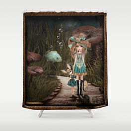 Make Your Own Path Shower Curtain
