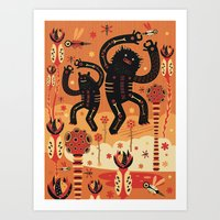 bruno mars Art Prints featuring Les danses de Mars by Exit Man