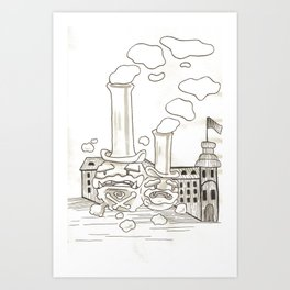 Pollution boys Art Print