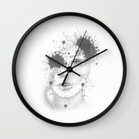 Abstract Face Illustration Wall Clock