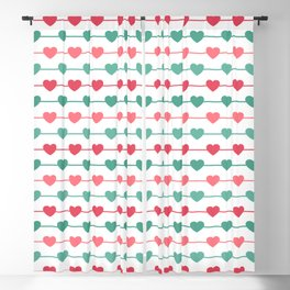 String of Hearts Blackout Curtain