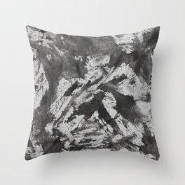 Black Ink on White Background Throw Pillow
