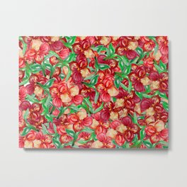 Little Red Flower Garden Metal Print