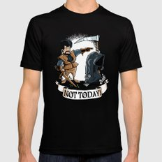 Not today! Mens Fitted Tee LARGE Black