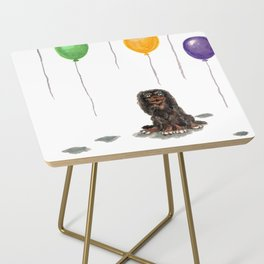 Toy Spaniel with balloons Side Table