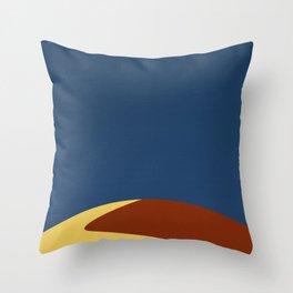 Stockton Sand Dunes Queensland Illustration  Throw Pillow