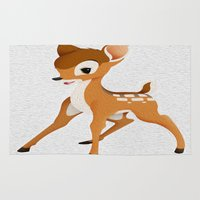 bambi Area & Throw Rugs featuring Bambi by MandiMccl