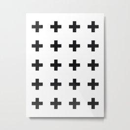 Swiss Cross Metal Print