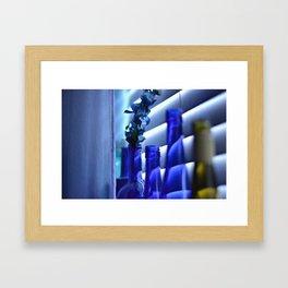 Blue Bottles - 3 Framed Art Print