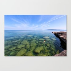 Serenity Swim in Lake Superior Canvas Print