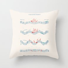 Nautical Notation Throw Pillow