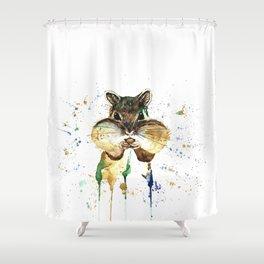 Chipmunk - Feeling Stuffed Shower Curtain