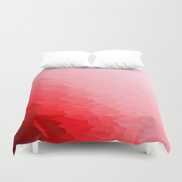 Red Texture Ombre Duvet Cover