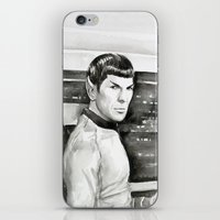 spock iPhone & iPod Skins featuring Spock by Olechka