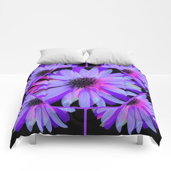 Elegant Painted Flowers  Comforters