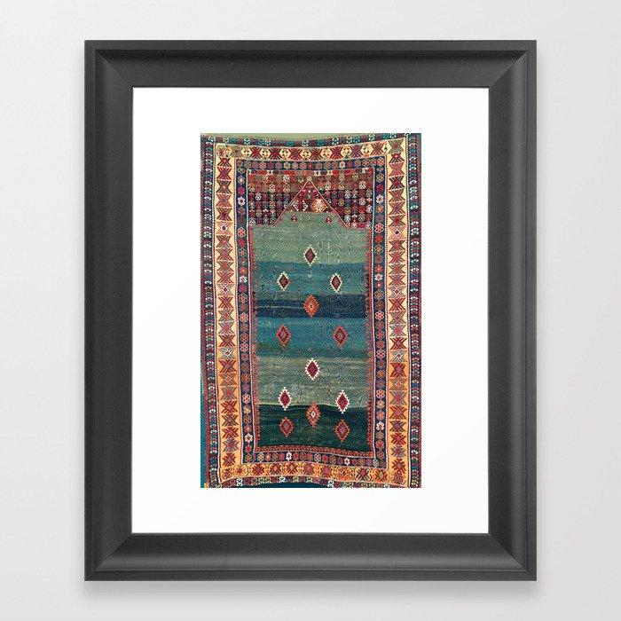 Sivas Antique Turkish Niche Kilim Print Gerahmter Kunstdruck