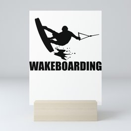 Wakeboarding waterskiing Mini Art Print