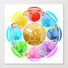 Eeveelution Stained Glass Canvas Print