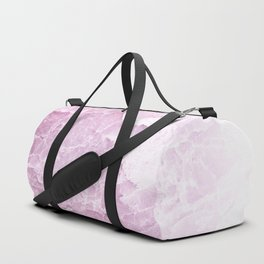 Sea Dream Marble - Rose and white Duffle Bag