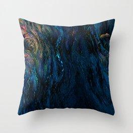 deep dark blue Throw Pillow