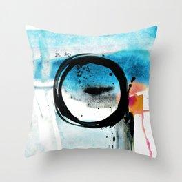Enso Abstraction o. 113R by Kathy Morton Stanion Throw Pillow
