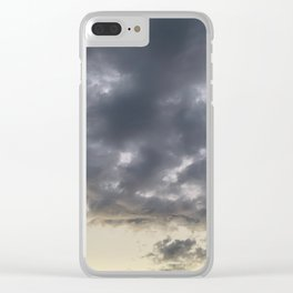 Grey clouds Clear iPhone Case