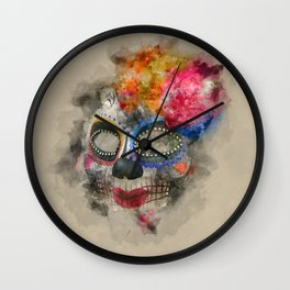 Watercolour Mask Wall Clock
