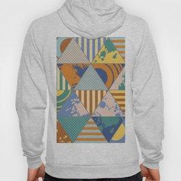 Multi Patterned Geometric Triangles Hoody