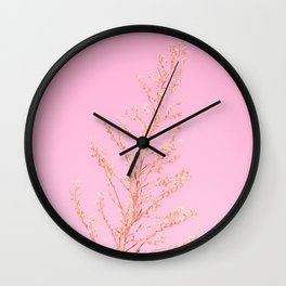 Seeds of Weeds in Pink Wall Clock