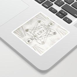 Samadhi white Sticker