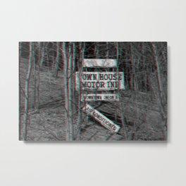 3D Sign Metal Print