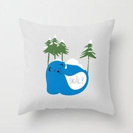 party animals - norwegian bear Throw Pillow