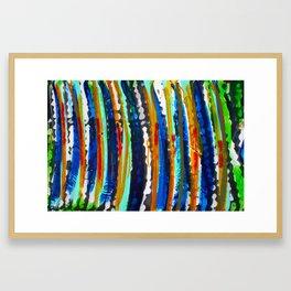 Tribal Stripes  Framed Art Print
