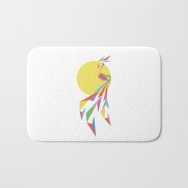 Abstract Moon Bird Bath Mat
