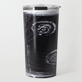 Black and White Abstract Travel Mug