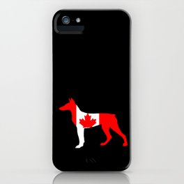 Canada Doberman iPhone Case
