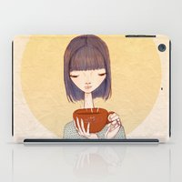 coffee iPad Cases featuring coffee by Renia