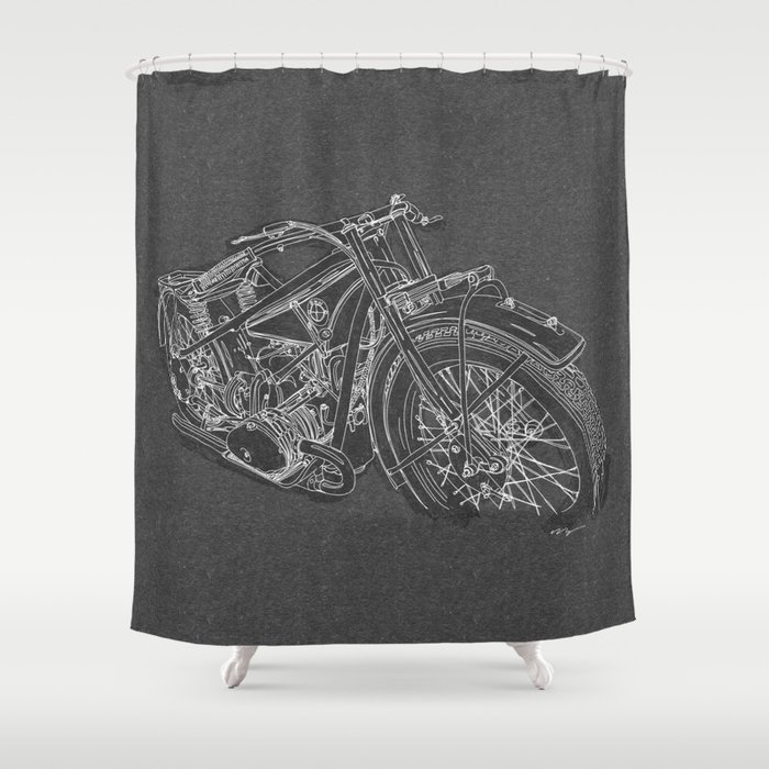 Vintage BMW R32 Motorcycle Shower Curtain