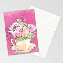Roses in Teacup Stationery Cards