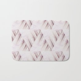 Abstract geometric pattern.Pinkish beige striped triangles . Bath Mat