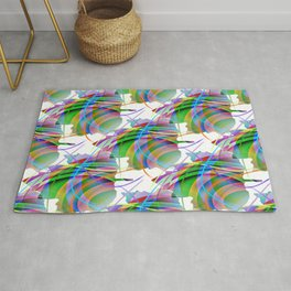 Maple Leaf Abstract Rug