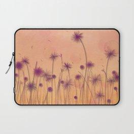 Dreamy Violet Dandelion Flower Garden Laptop Sleeve