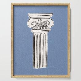 Greek ionic column Serving Tray