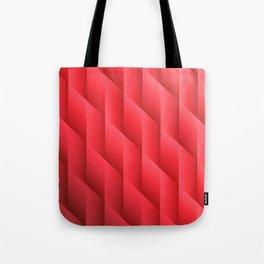 Gradient Red Diamonds Geometric Shapes Tote Bag
