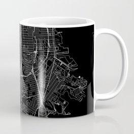 San Francisco Black Map Coffee Mug