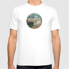 sky of water White MEDIUM Mens Fitted Tee