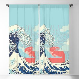 The Great Wave off Kanagawa stormy ocean with big waves Blackout Curtain