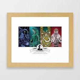 H. P. Lovecraft Tribute Framed Art Print